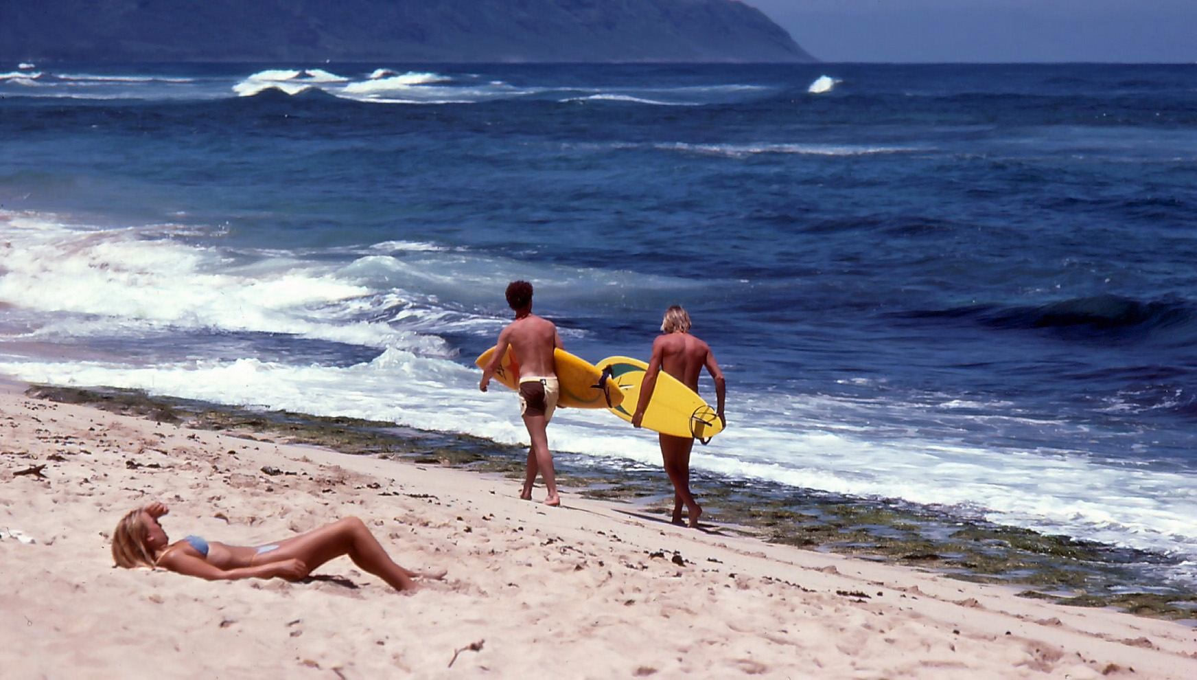 125. KG o CH ska för första gången surfa the north shore, Oahu (1981)